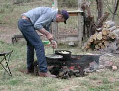 Dutch oven cooking over an open fire. Tips for Dutch oven cooking while camping.