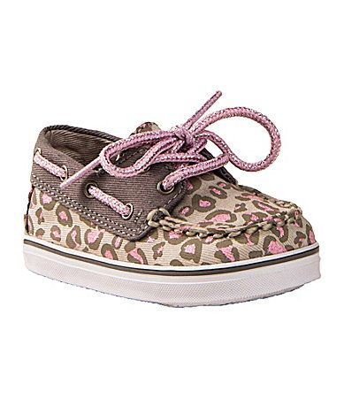 These are the cutest baby boat shoes ever. I could die. Sperry TopSider Infant Girls Bahama Crib Boat Shoes #Dillards