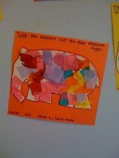 First Week Activity- Elmer the Patchwork Elephant