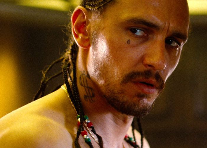 "james franco as ""alien"" in spring breakers, 2012"