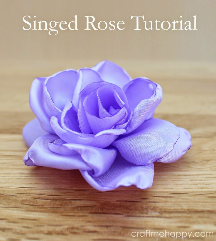 Free pattern and tutorial for making your own singed roses.