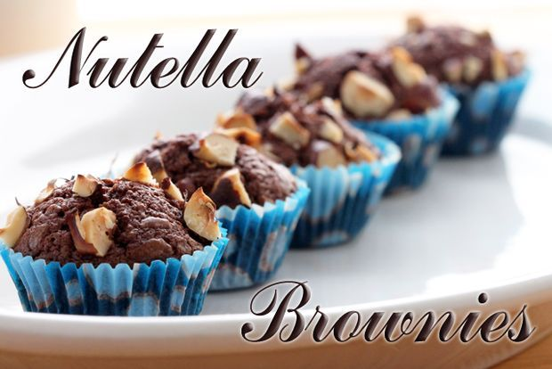 "Nutella Brownies | Three Ingredients: ""Since Nutella already has fat, milk, and chocolate in it, the things you would normally be adding to traditional brownies separately, why not use a product that already has these things - and hazelnuts!""  *THIS LOOKS SO GOOD! Be sure to read the comments at the end of the recipe for suggestions/ideas."