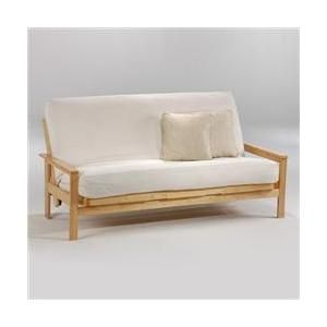 Night and Day Furniture Online LABY-QEN-HIC Albany Queen Futon Frame - Hickory