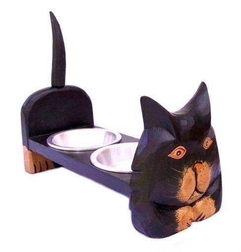 KATZEN FRESSNAPF Fressnapf Futternapf Katze Doppelnapf Katzennapf Futterstelle in Haustierbedarf, Katzen, Näpfe & Trinkbrunnen | eBay!