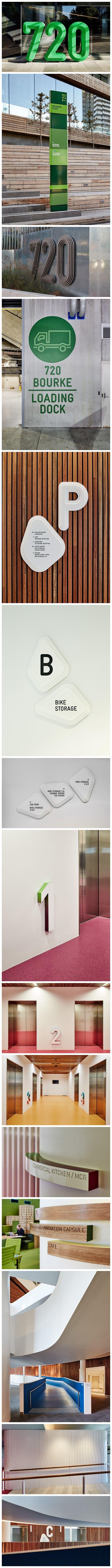 Medibank wayfaring signage and environmental graphics by Fabio Ongarato Design