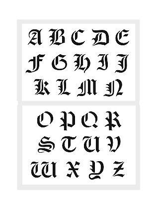 Abc Schablone Alte Schrift Buchstaben Ca 5cm 6cm Hoch Alphabet Alte Schrift Buchstaben Schablone Alphabet Schriftarten