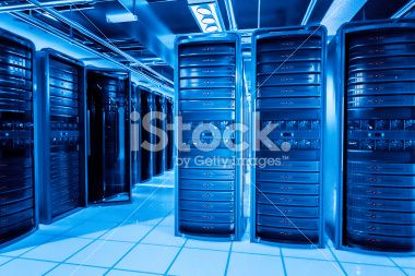 Network servers racks Royalty Free Stock Photo
