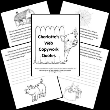 FREE Charlotte Web's Copywork! | Blessed Beyond A Doubt