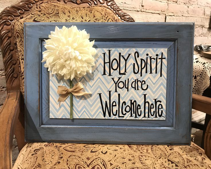 Excited to share the latest addition to my #etsy shop: Holy Spirit you are wecome here. Modern Prims. Inspirational signs and Saying. Cabinet door signs. Scripture signs. Bible signs.