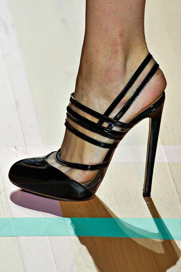 Versus Black Patent Sandal Spring 2012 #Shoes #Heels #Versus