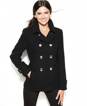 37124e1ff4f Calvin Klein Wool-Blend Peacoat - Coats - Women - Macy s - Black  Women  scoats