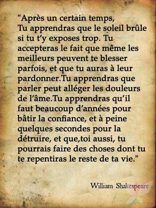 Extrait d'un poeme de shakespeare