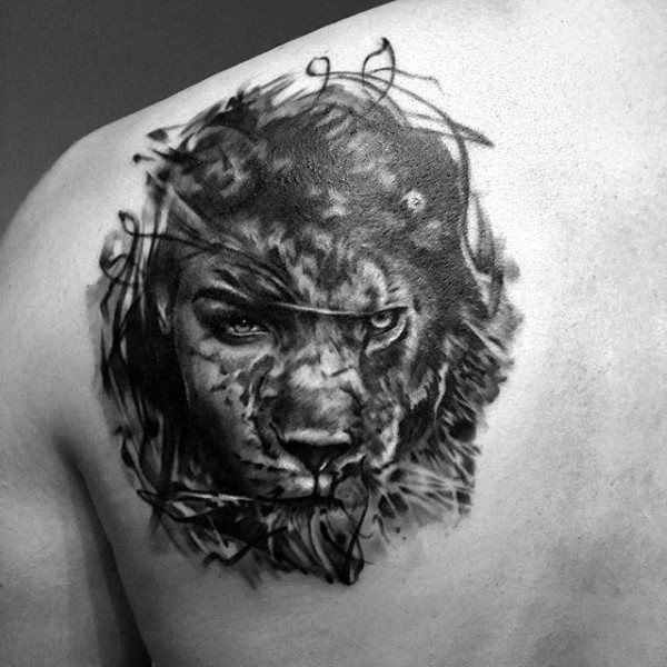 50 Lion Back Tattoo Designs For Men Masculine Big Cat Ink Ideas Mens Shoulder Tattoo Tattoos For Guys Back Tattoo