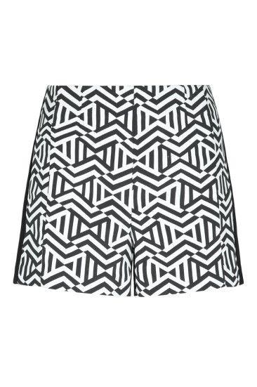 High Waist Black & White Shorts #newin #TALLYWEiJL