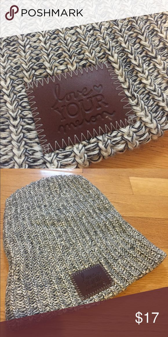 Love Your Melon Navy and Cream Beanie Navy and Cream  Beanie by Love Your Melon Never actually worn love your melon Accessories Hats
