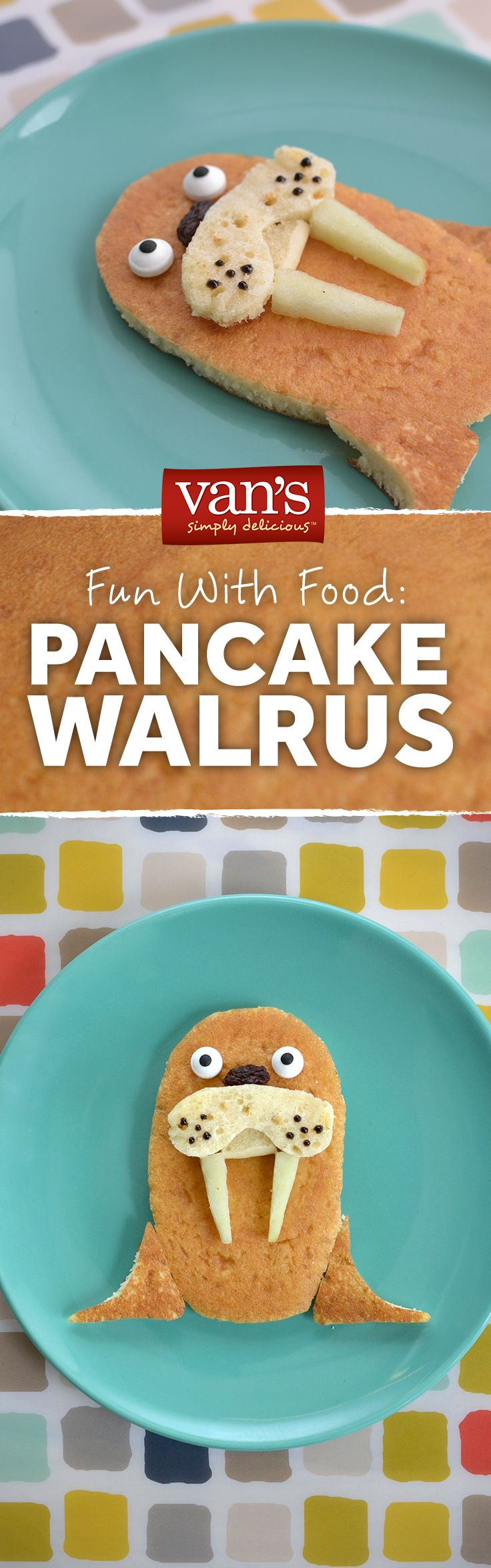 Pack a little fun into their morning routine! Dish up some walrus pancakes to put a smile on their faces.
