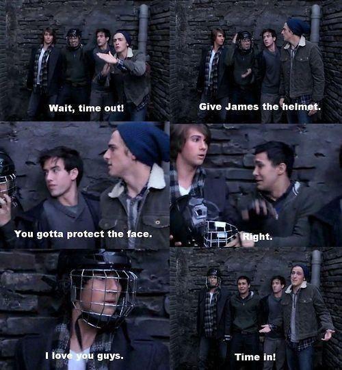 Big Time Audition :) hahaha you gotta protect J's pretty face, duh!