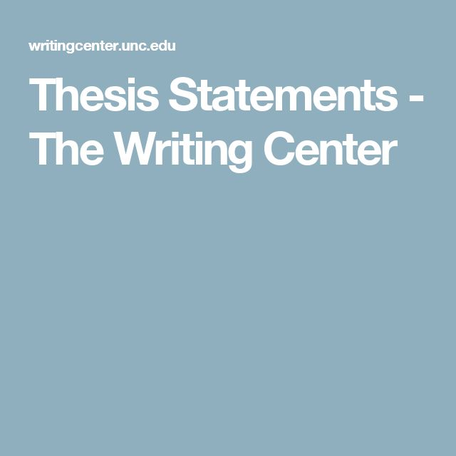 write thesis statements