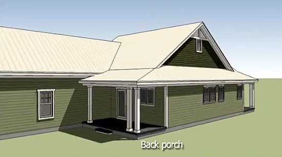 Plan 15043NC: Southern Cottage for a Narrow Lot