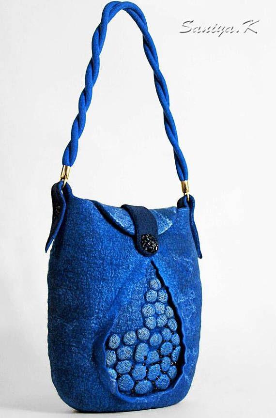 "Boho Bag Handmade ""Stones"" (felted boho-chic eco handbags buy)"