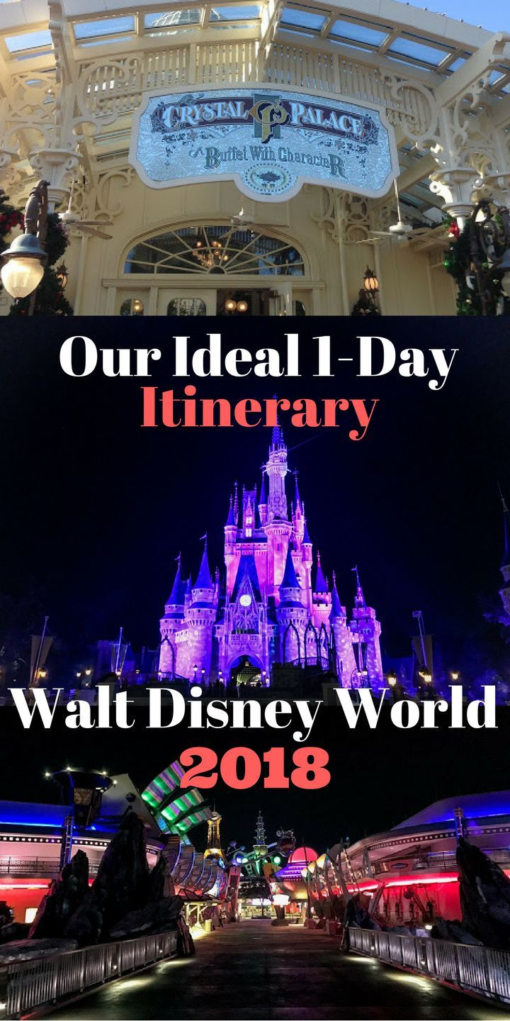 Our Ideal 1-day WDW itinerary. It may not be the perfect Disney vacation situation but going into a short Disney trip with a plan for the parks (Magic Kingdom in this case) can make all the difference in turning a short Disney trip into a dream vacation. Here's our 1 day Disney parks itinerary.
