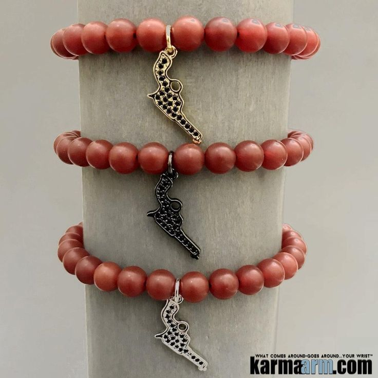 ♛ Red Agate is a projecting stone which assists in strengthening conscious, courage, strength, physical energy, luck, and success. It is a powerful protector of your aura.#Charm#Gun#Pistol#BEADED#Yoga#BRACELETS#Chakra#gifts#Stretch#Womens#jewelry#Eckhart#Tolle#Crystals#Energy#gifts#Handmade#Healing#Kundalini#Law#Attraction#LOA#Love#Mala#Meditation#prayer#Reiki#mindfulness#wisdom#Fashion#Spiritual#Buddhist#Stacks#Lucky