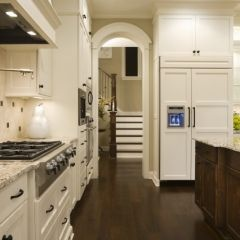 traditional kitchen by Stonewood, LLC;    Like the look of oil rubbed bronze hardware especially the little round knobs; the windows throughout the house are white and will use this color of hardware