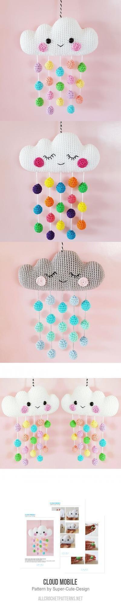 Cloud Mobile Crochet Pattern