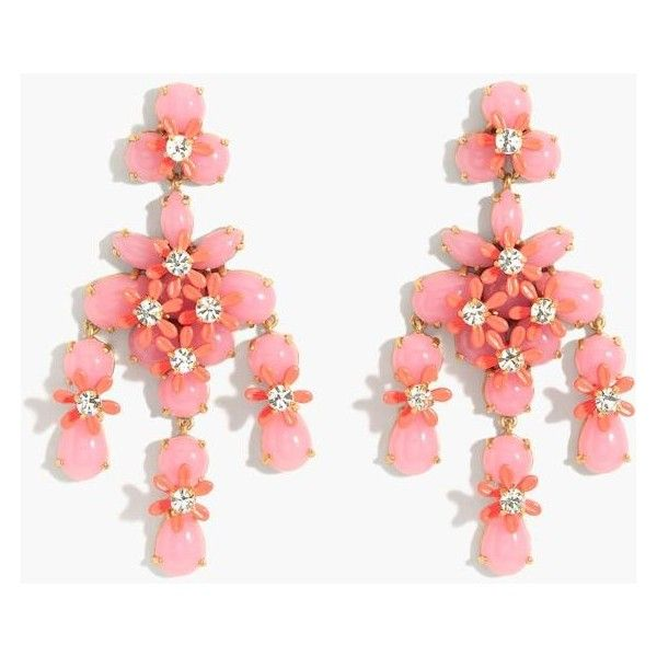 J.Crew Floral Cascade Earrings (285 BRL) ❤ liked on Polyvore featuring jewelry, earrings, flower jewellery, j crew jewelry, j crew earrings, floral earrings and earring jewelry