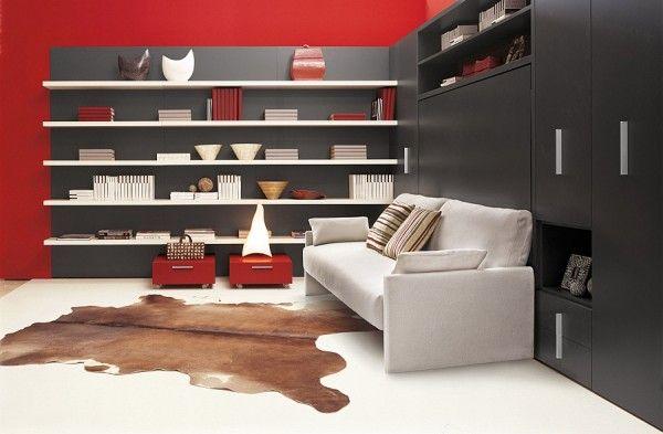 Modern murphy bed sofa system Circe
