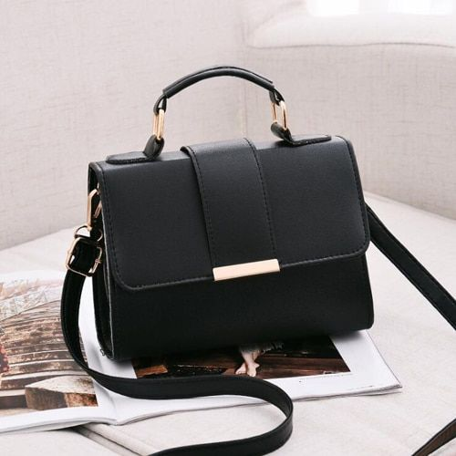 REPRCLA Summer Women Bag Leather Handbags PU Shoulder Bag Small Flap Crossbody Bags Messenger Bags Color Black Size 20x15x6cm