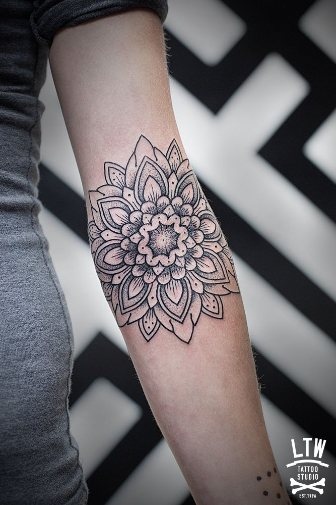 geometric flower tattoo color - photo #16