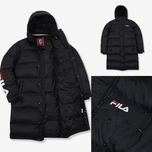 FILA Light Logo Long Down Winter Heat Coat Padding Jumper