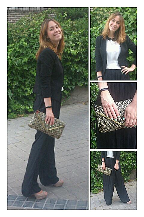 Pantalones efecto falda larga de Zara