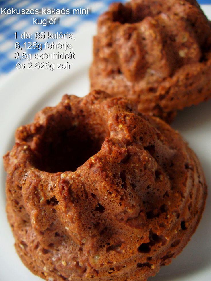Réka alakbarát receptjei - szénhidrátcsökkentett, bűntelen finomságok: Kókuszos-kakaós mini kuglóf