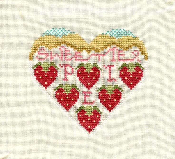 This is a Cross-eyed Cricket freebie called Sweetie Pie. I have the hearts from the corresponding leaflets all stitched and this summer will...