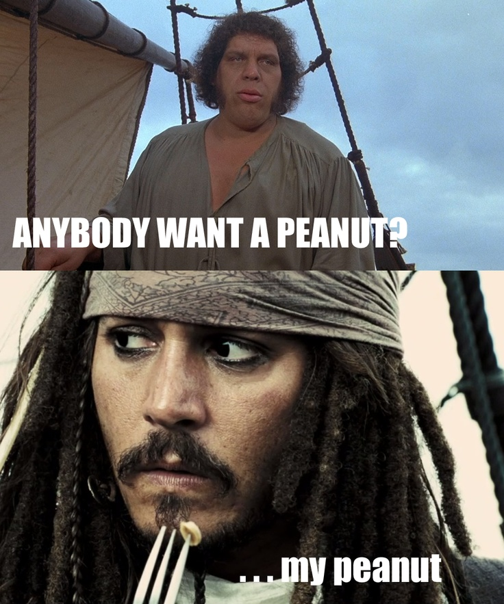 My attempt at making a witty meme. Of COURSE it included Captain Jack Sparrow! (duh)