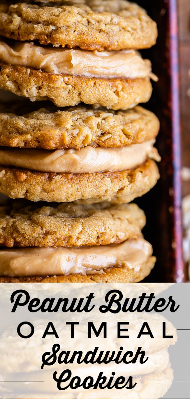 Peanut Butter Oatmeal Sandwich Cookies from The Fo…