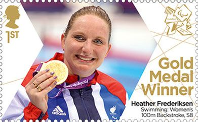 Paralympics Team GB Gold Medal Winners 1st Stamp (2012) Swimming: Women's 100m Backstroke, S8 - Paralympics Team GB Gold Medal Winners