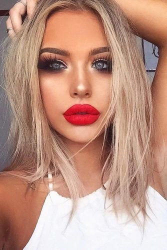 Red Lipstick Looks for Girls with Blonde Hair picture 1