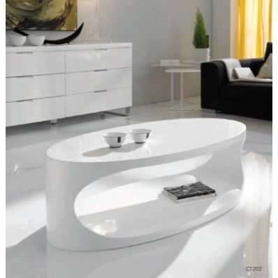 Mesa de centro ovalo blanco ct 202 precio regular 365 for Precios de muebles para el hogar