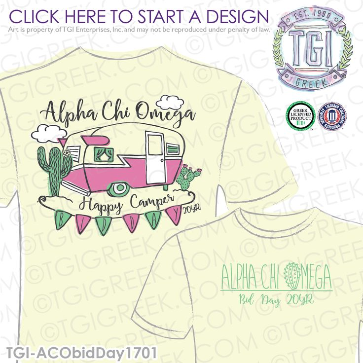 Alpha Chi Omega | A Chi O | ΑΧΩ | Bid Day | Bid Day Shirt | Sorority Bid Day | | TGI Greek | Greek Apparel | Custom Apparel | Sorority Tee Shirts | Sorority T-shirts | Custom T-Shirts