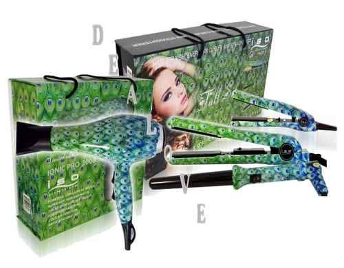 Peacock Hair Full Set Blow Dryer Flat Iron Curling