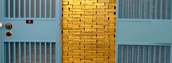 Gold Vault - Federal Reserve Bank of New York - Reserve at least a week ahead to visit the Federal Reserve Bank, most rewarding just to ogle the facility's high-security vault – useful considering more than 10,000 tons of gold reserves reside here, 80ft below ground. Exhibits on counterfeit currency AND a serious coin collection of the American Numismatic Society. A tour (six daily, Monday-Friday excluding bank holidays) is the only way to get in. 33 Liberty St, Lower Manhattan.
