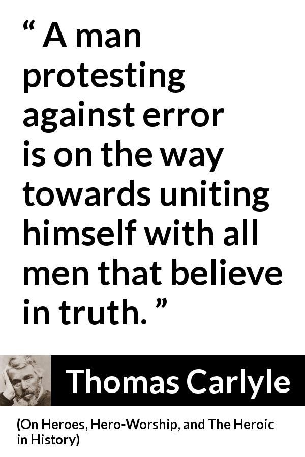 Thomas Carlyle About Truth On Heroes Hero Worship And The Heroic In History 1841 Quotes English Reference Truth