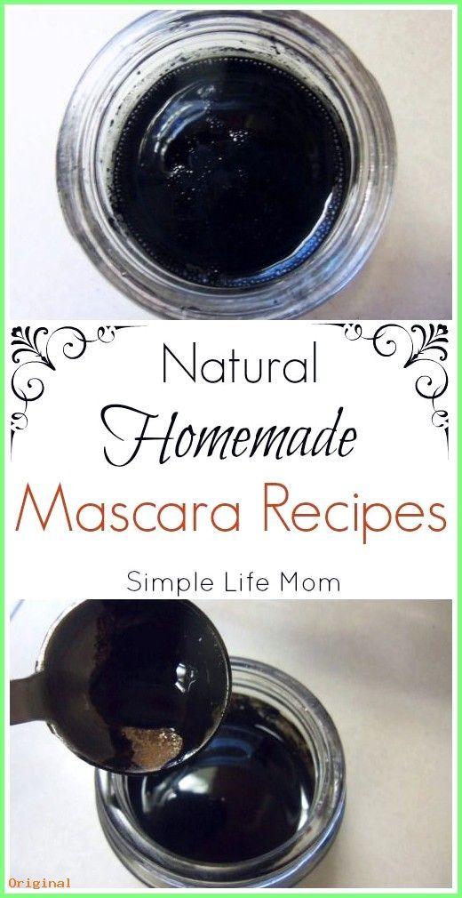 50+ Hautpflege – Natürliche hausgemachte Mascara Rezepte von Simple Life Mom  #Hautbehandlun…