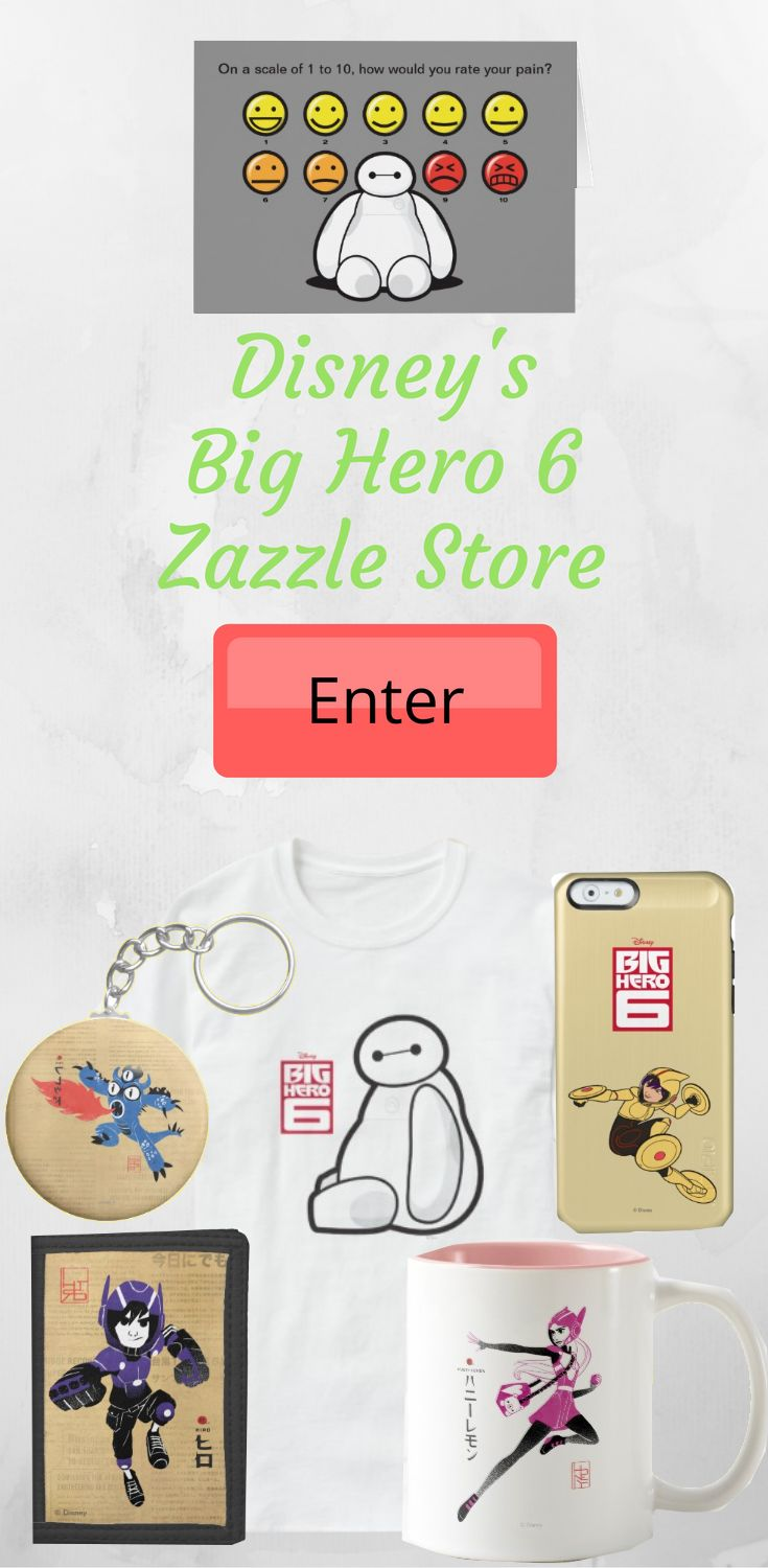 Join Baymax, Hiro and all of your favorite robot friends in the Big Hero 6 store right here on Zazzle. Experience the epic adventure yourself with the selection of the coolest products all inspired by the smash hit Disney movie. Embrace your love of super heroes, robots and sci-fi in this action packed comedy that is sure to bring fun for all the family. get a mugs, t-shirts, posters, phone cases and a whole host of items that you can even customize with your own images and text.
