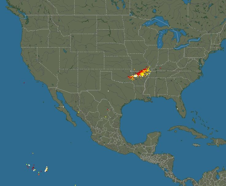 Blitzortung.org – Lightning map USA, Canada, Mexico – Thunderstorms and Lightning Strikes
