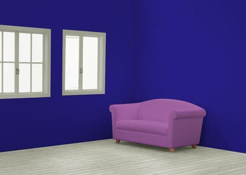 Фиолетово синий цвет в интерьере