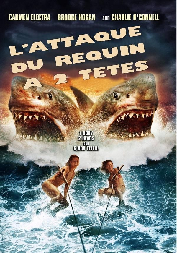 2-Headed Shark Attack    Support: Avi    Directeurs: Christopher Ray    Année: 2012 - Genre: Horreur / Action / Thriller / Science-Fiction - Durée: 88 m.    Pays: United States of America - Langues: Français    Acteurs: Carmen Electra, Charlie O'Connell, Brooke Hogan, Gerald Webb, David Gallegos, Christina Bach, Ashley Bissing, Marckenson Charles, Chase Conner, Michael Dicarluccio